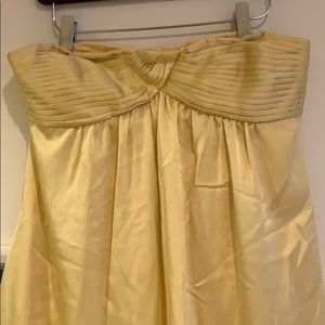 BCBG Maxazria long yellow gown
